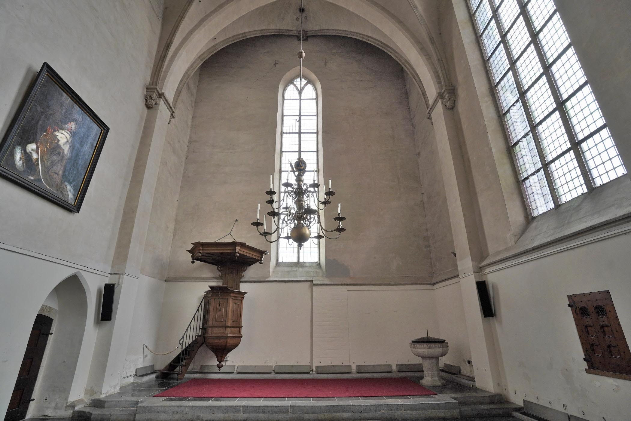 Noorderkapel Stevenskerk gezien vanuit de kerk